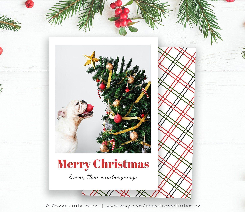 Modern Christmas Card Template Christmas Card Template Modern Christmas Cards Holiday Card Template
