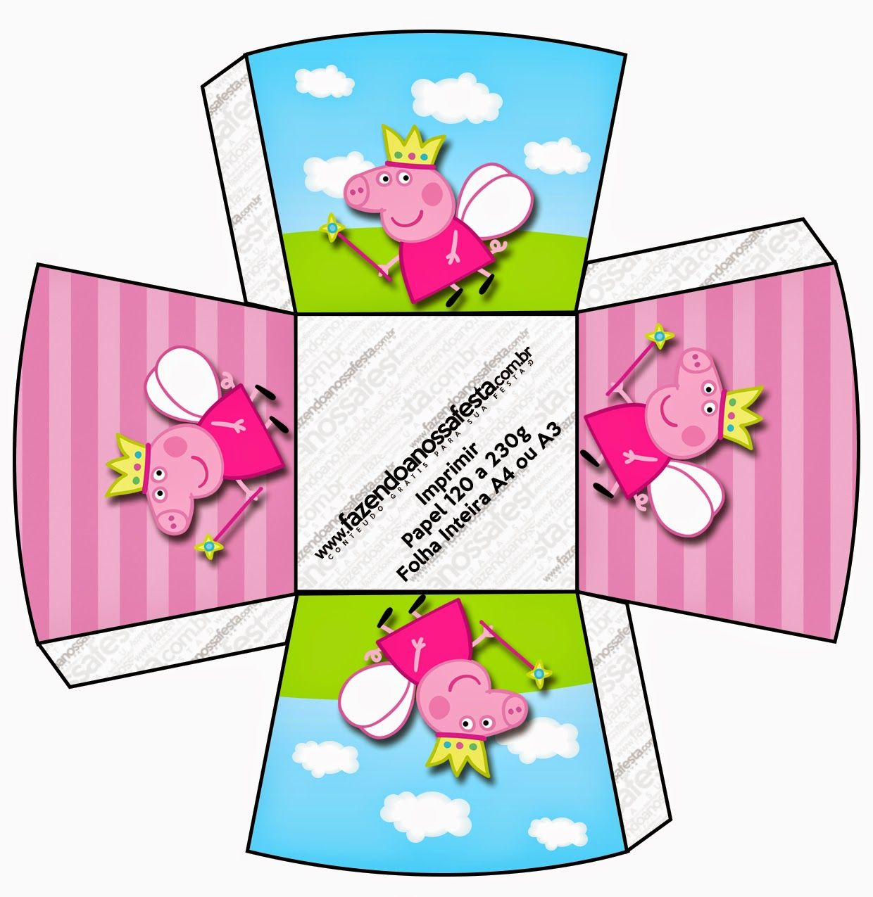Peppa Pig Fairy Free Printable Boxes In