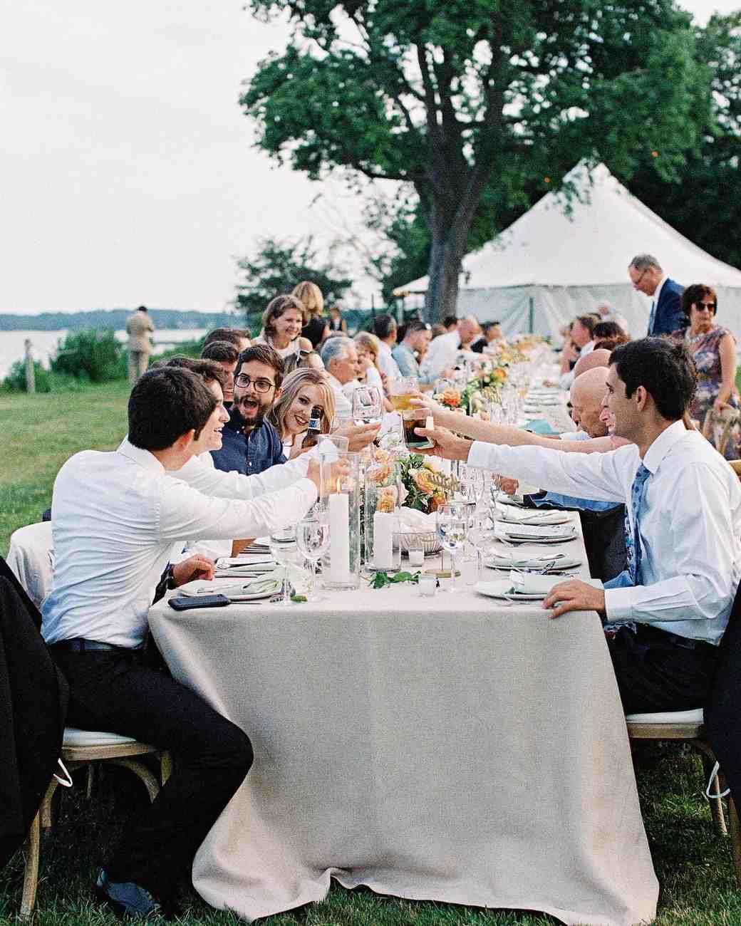 An Elegant Intimate Wedding On Long Island Farm Style Table