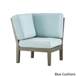 Yasawa Ii Modern Grey Outdoor Cushioned Sectional Wood Corner