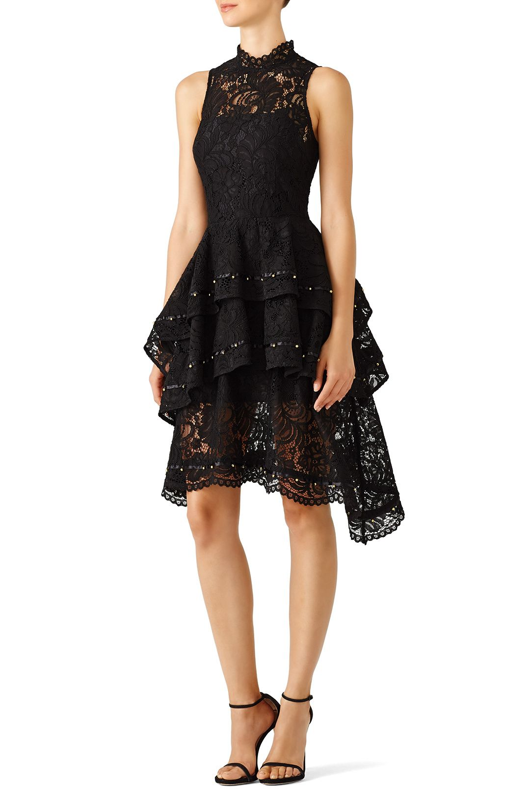 Rent Black Star Crossed Dress By Keepsake For 35 Only At Rent The Runway Black High Low Dresses Dresses Black Star