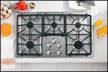 Ge Profile 36 Built In Gas Cooktop Stainless Steel Larger
