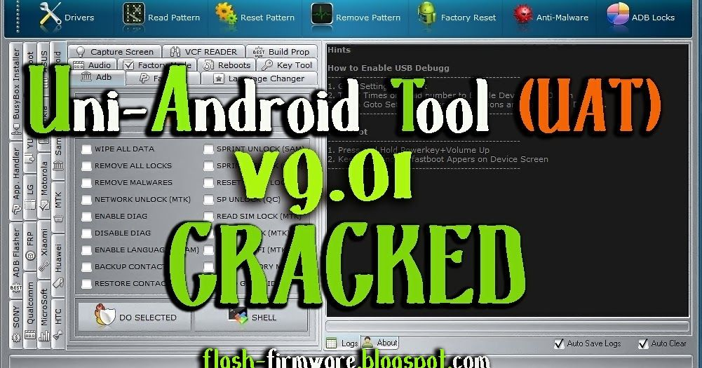 DownloadUni-Android Tool [UAT] V9 01 Cracked Feature: Wipe All Data