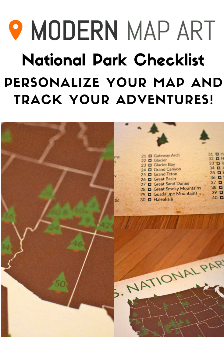 Personalized National Park Map National Parks Map National Parks Visiting Glacier National Park