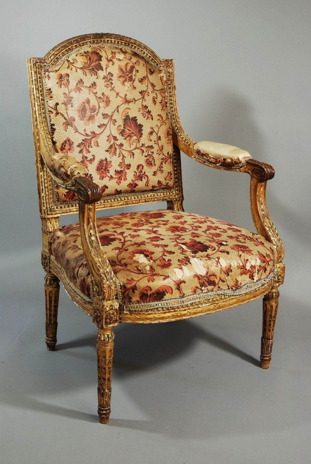 Mid 19thc French fauteuil (open armchair) from the Stephen