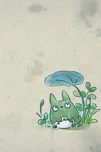 Cute Totoro Phone Wallpaper Totoro Art Ghibli Tattoo Totoro