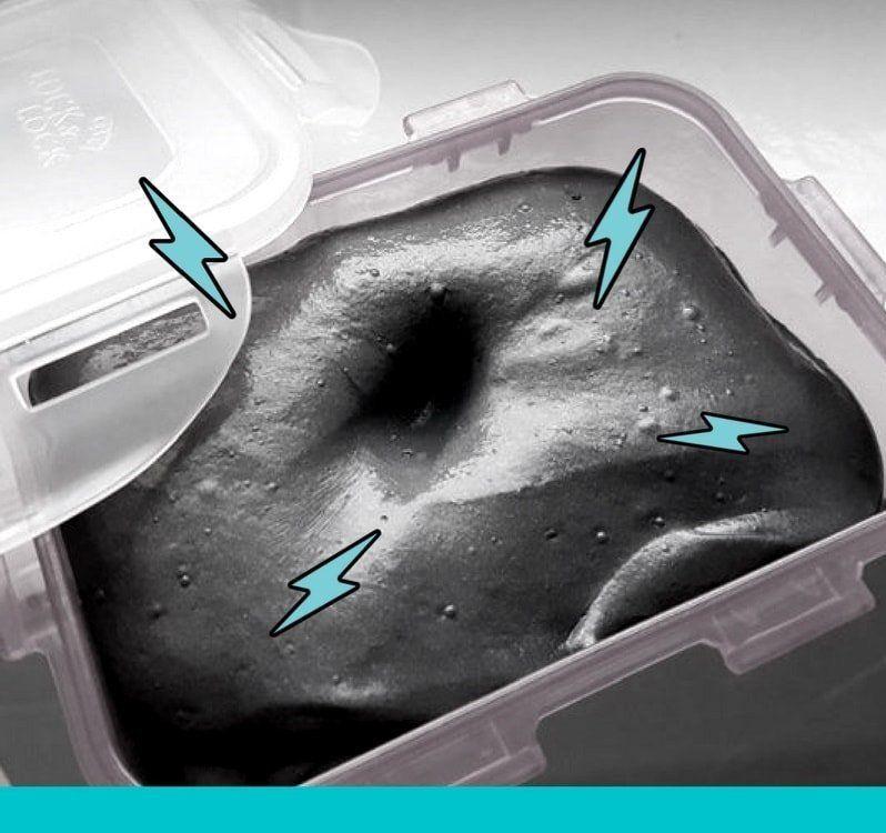 magnetischer schleim selber machen ohne borax anleitung basteln pinterest experimente. Black Bedroom Furniture Sets. Home Design Ideas