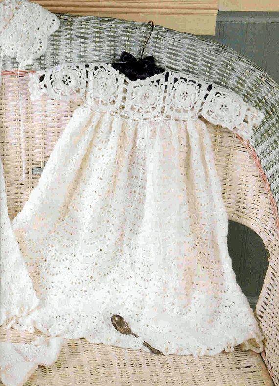 Crochet Pattern Irish Rose Christening Layette 3 To 9 Months