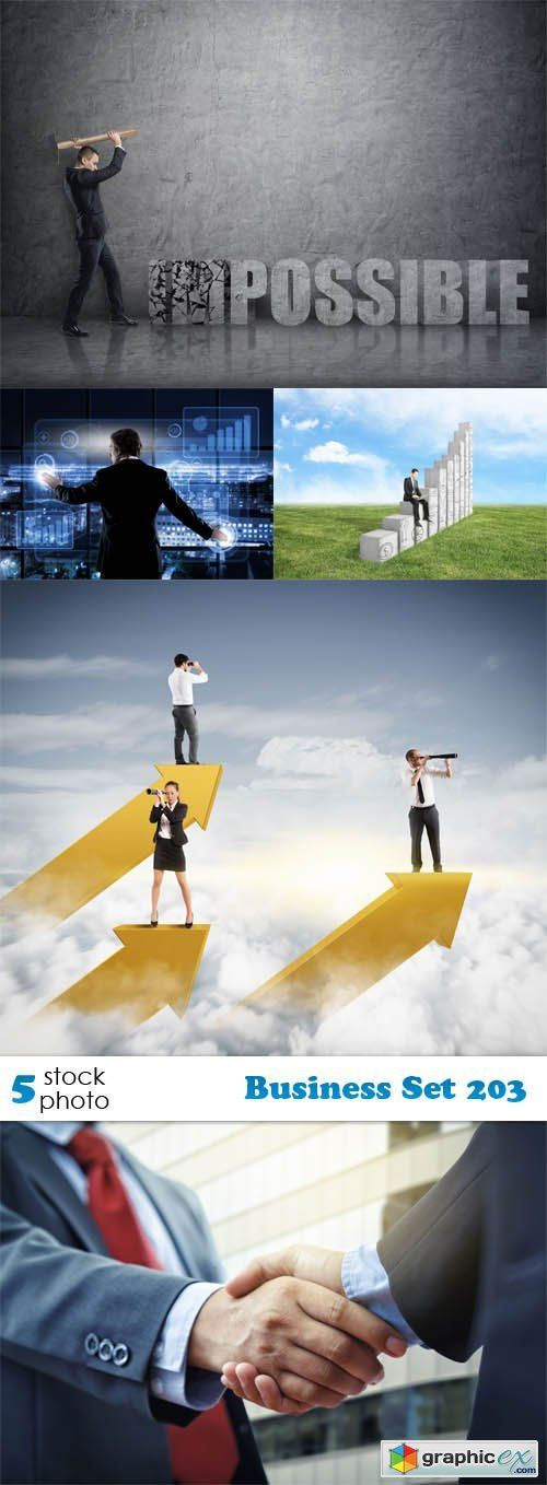 Business Set 203  stock images