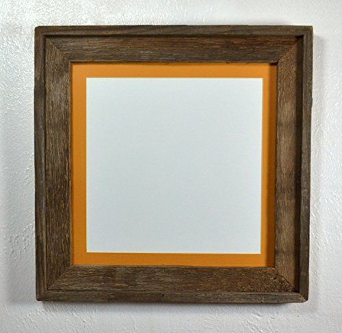 Barnwood Style Picture Frame 10x10 Dark Yellow Mat Reclaimed Wood Complete 12x12 Without Mat Check Out The Image By Vis Barn Wood Picture Frames Repurposed