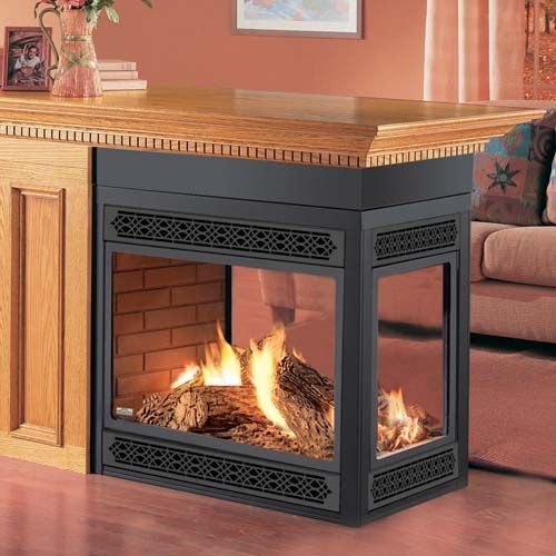 three sided gas fireplace | SALE! Napoleon 3-sided See-Through Gas ...
