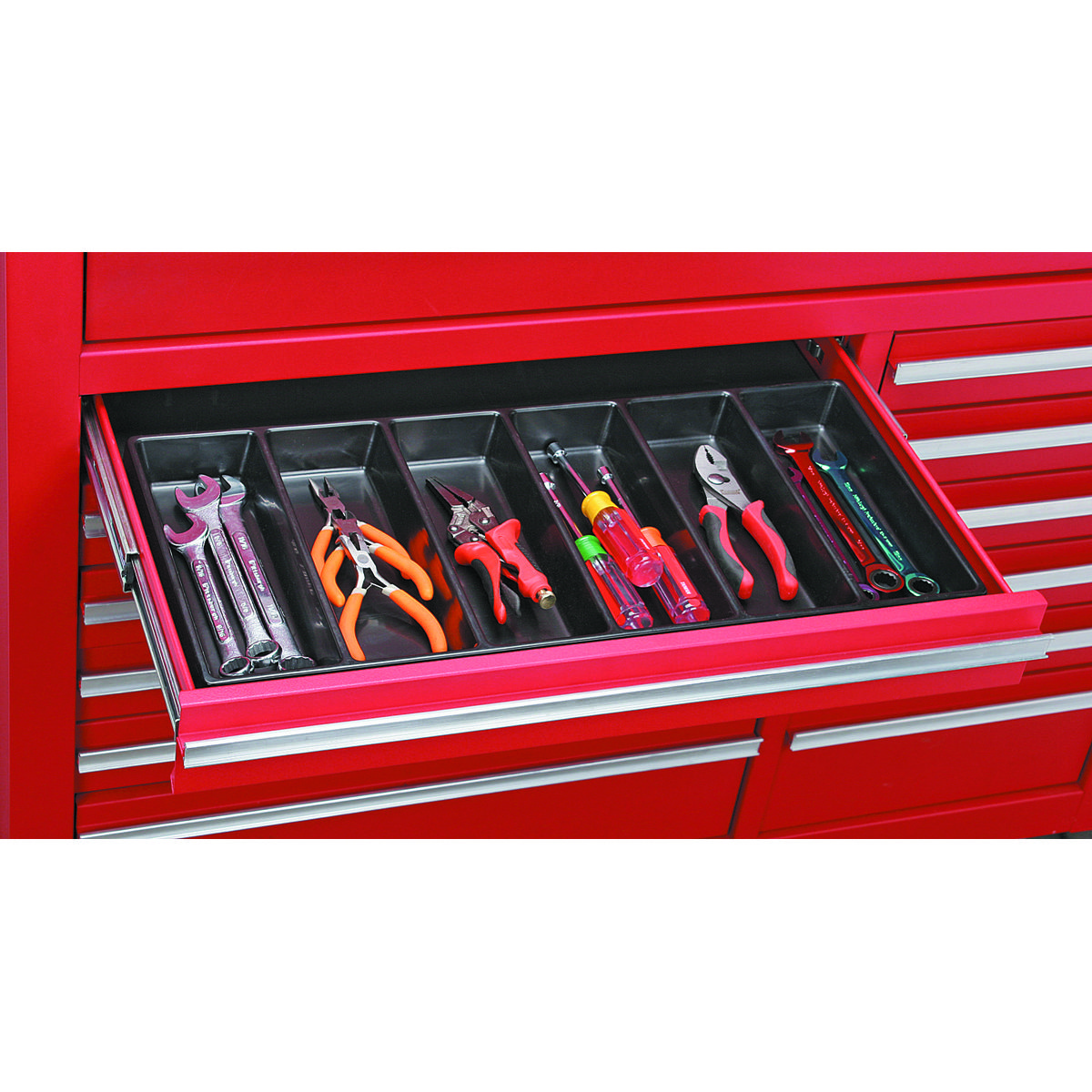 6 Compartment Drawer Organizer In 2020 Tool Chest Organization Tool Drawer Organizer Drawer Organisers