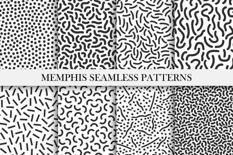 Memphis seamless patterns - 80-90s in 2019 | Patterns I