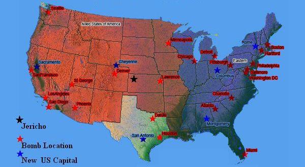 Jericho map Jericho Pinterest TVs and Movie
