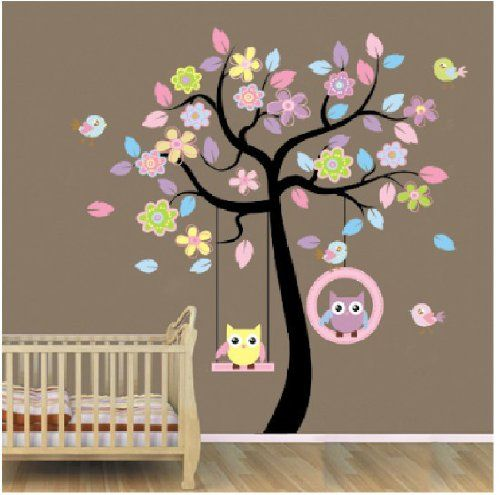 Amazonfr Stickers Fille Deco Pinterest Roses Bleues - Enfants decoration chambre autocollants