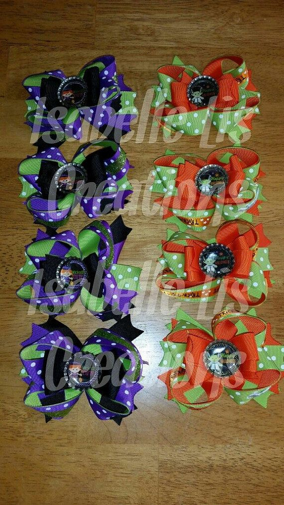 Halloween Hair Bows by SouthernBelleCre2014 on Etsy