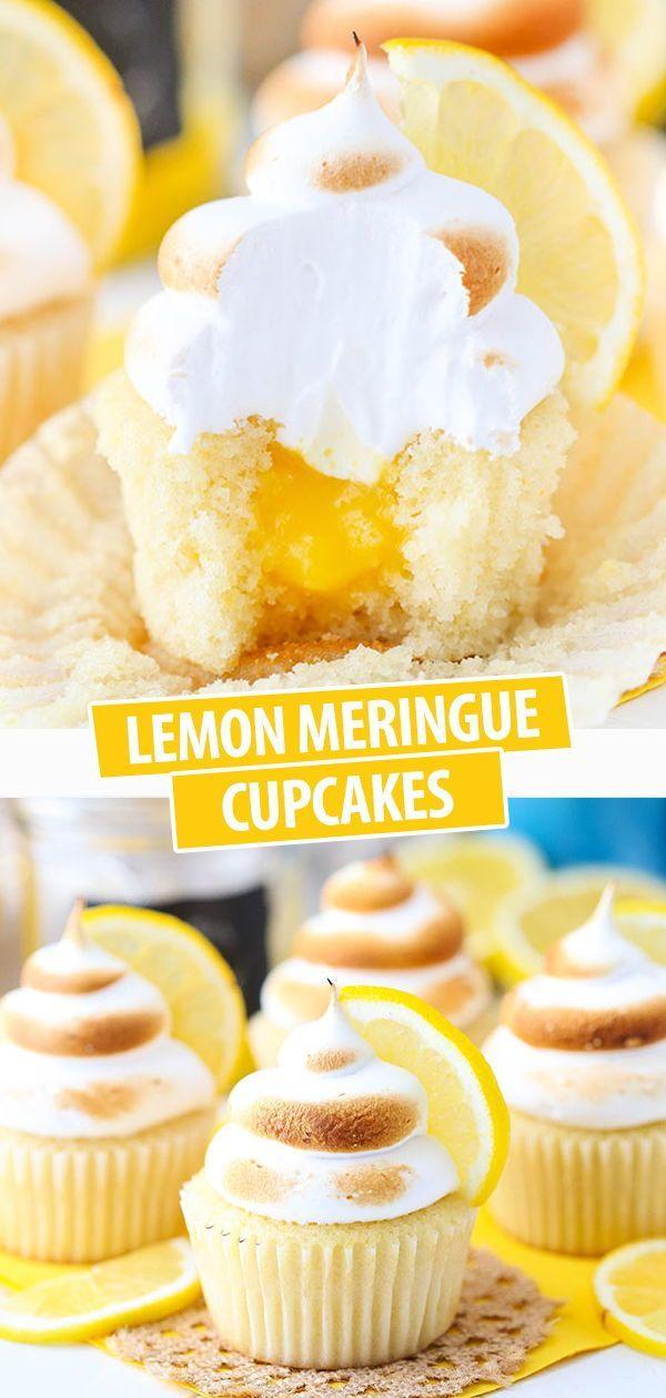 Tasty Lemon Meringue Cupcakes with Toasted Meringue Frosting!