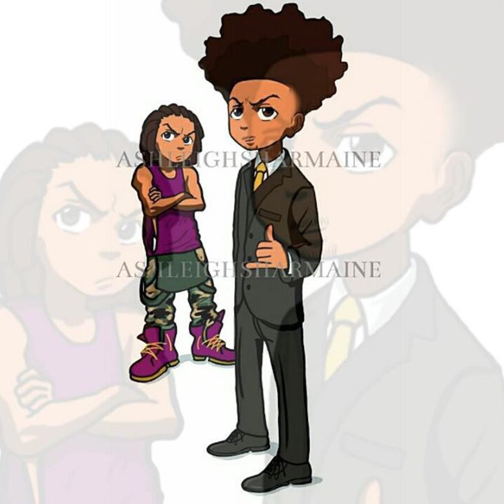 Black Hood Cartoon Characters : Ifcartoonsweregreek the boondocks alluring art