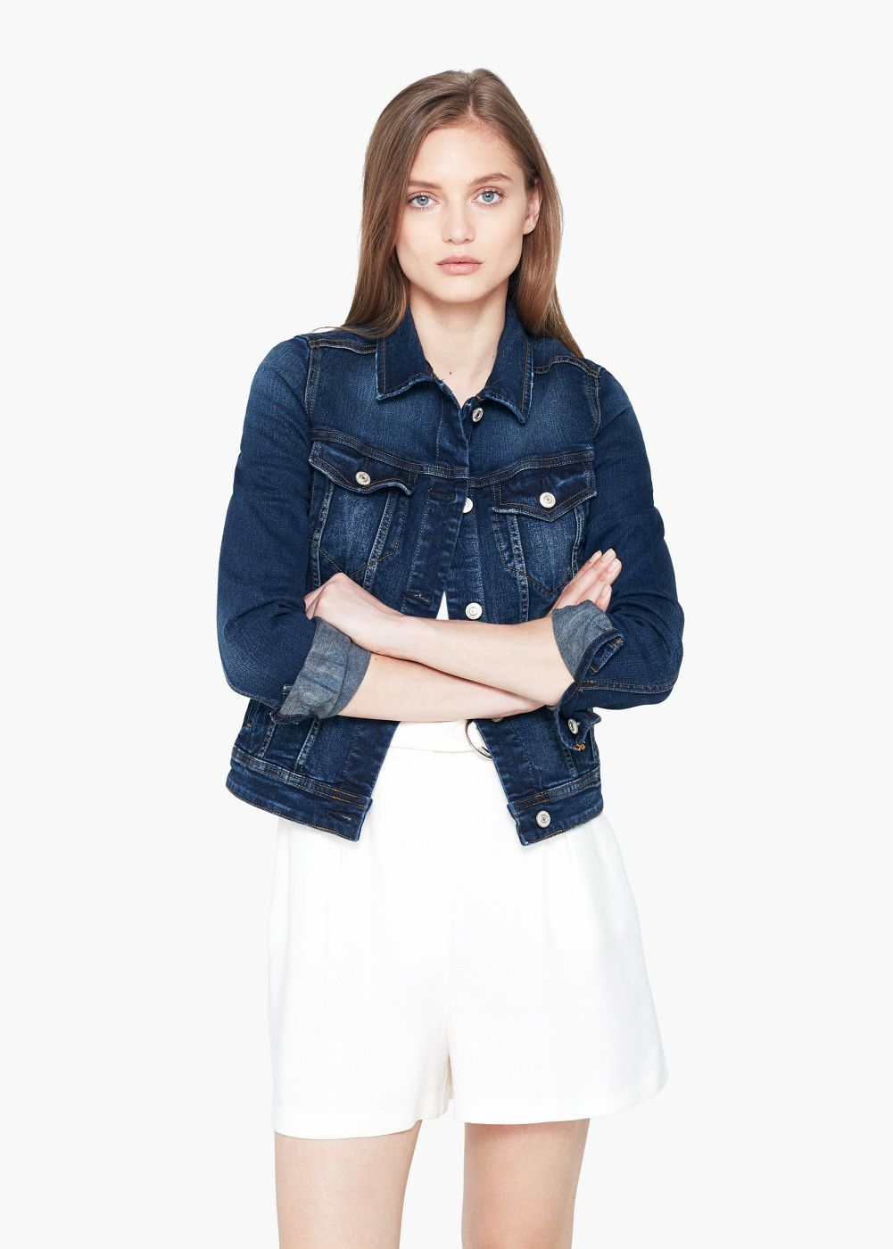a246df61c5 Dark denim jacket - Women