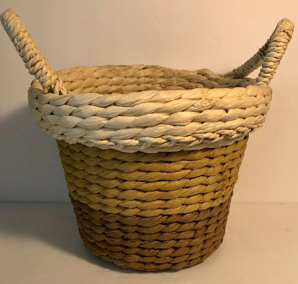 Burton And Burton Natural Woven Basket Neutral Colors 7 With