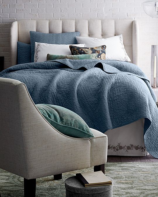 Dream Quilt and Sham in Bay Blue   Master Bedroom   Quilts, Bed, Bedroom