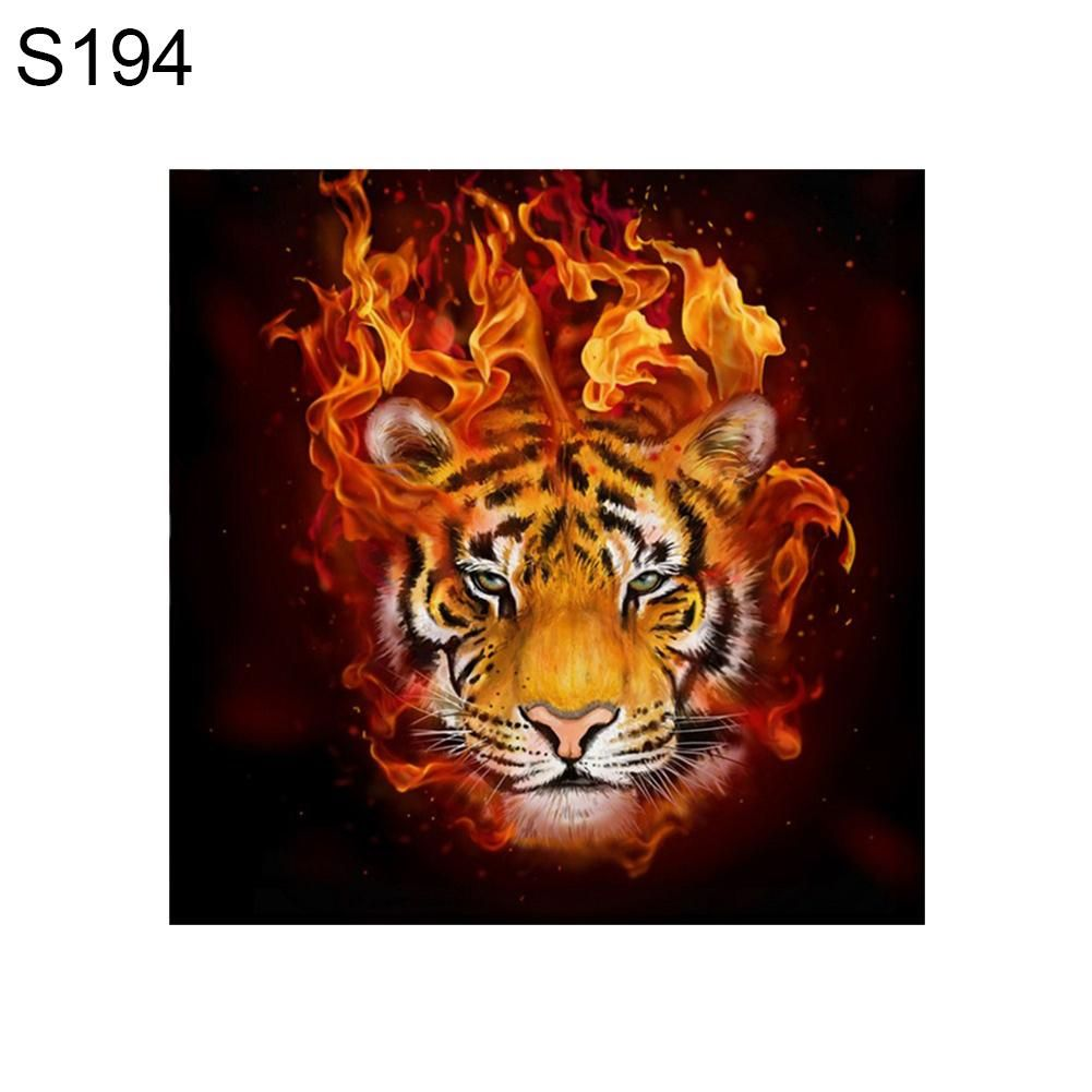 Photo of Animal Pattern Resin Diamond Painting DIY Cross Stitch Craft Room Wall Decor – as the picture q