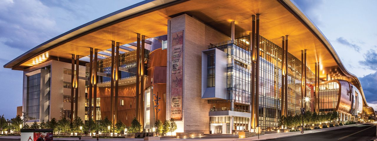 The Music City Center Offers Stunning Views Of The Nashville Skyline And In Keeping With The City S Co Cultural Architecture Architecture Architectural Orders
