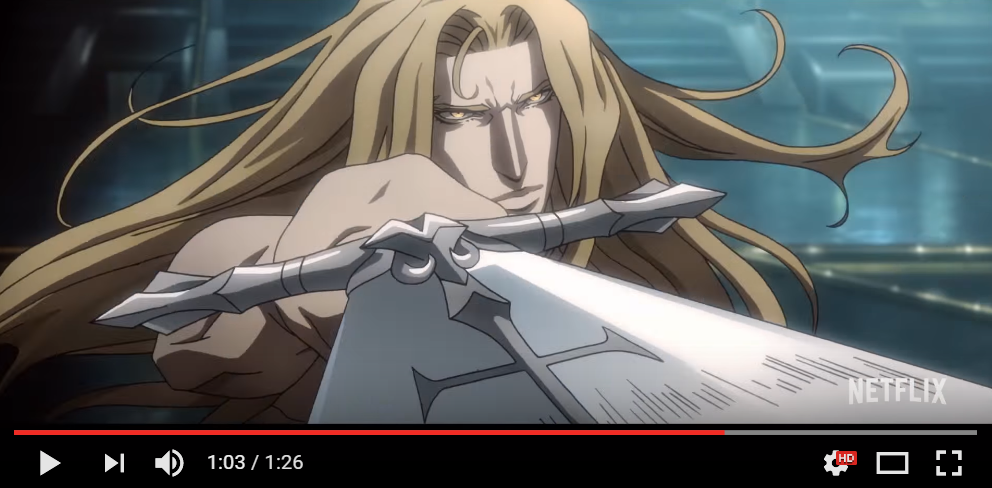 Netflix releases first preview of Castlevania animated
