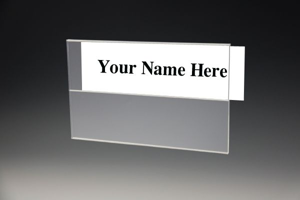 2 Tier Wall Name Plate Holder Acrylic Wall Mount Name