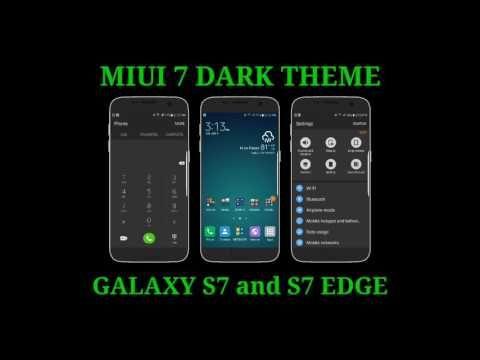 MIUI 7 DARK theme for Galaxy S7 and S7 Edge / Tema MIUI 7 DARK para el Galaxy S7 y S7 Edge