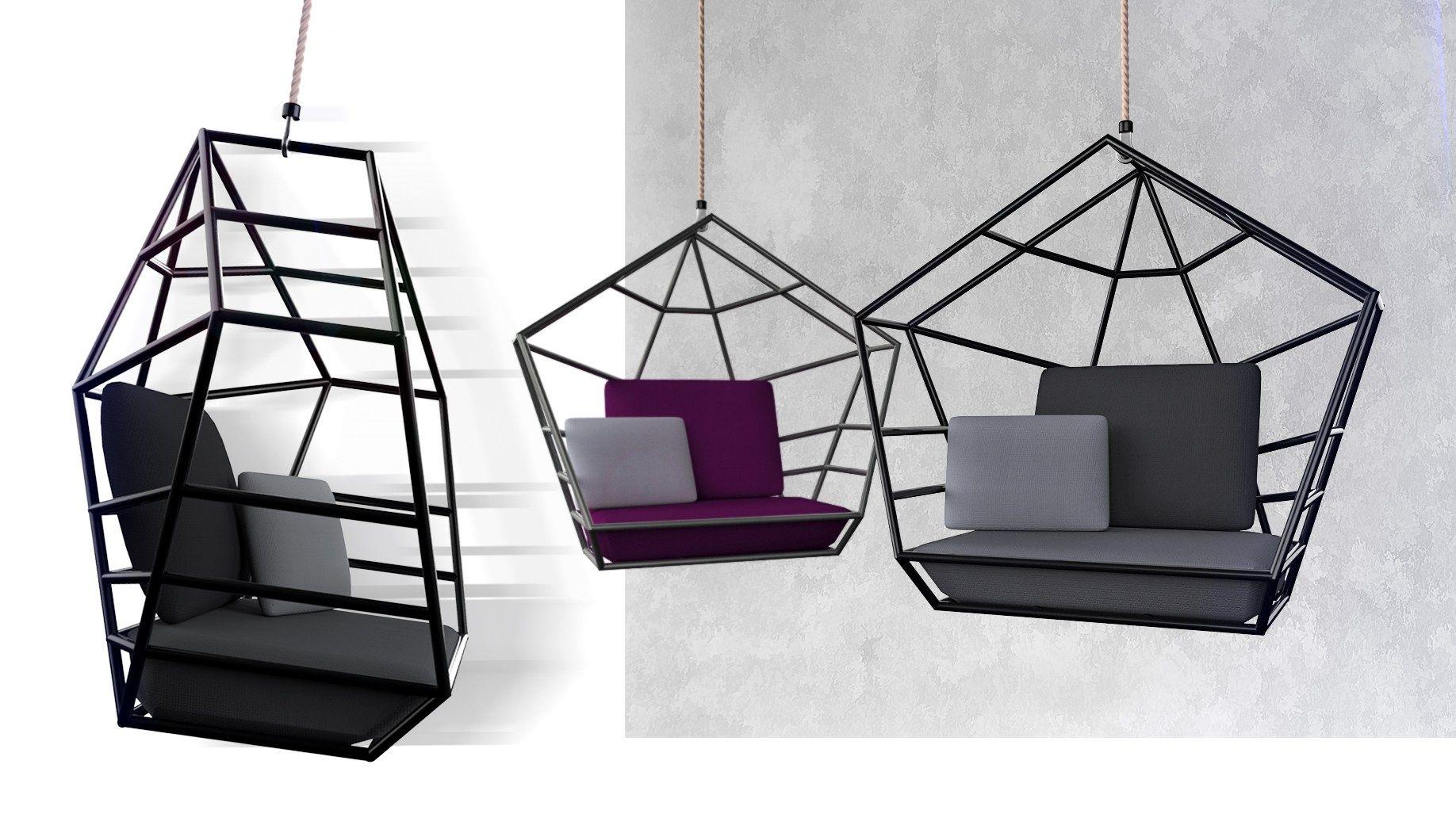 """""""Poly"""" / Swing Chair - Silla Colgante Oscilante - https://interiordesign.io/poly-swing-chair-silla-colgante-oscilante/"""