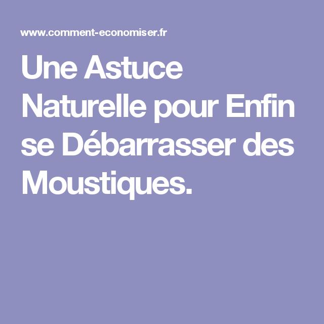 Une Astuce Naturelle pour Enfin se Débarrasser des Moustiques.
