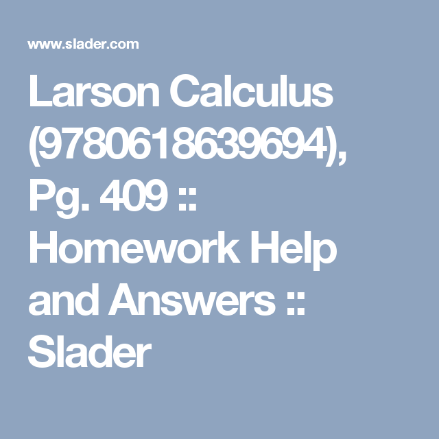 textbook homework answers