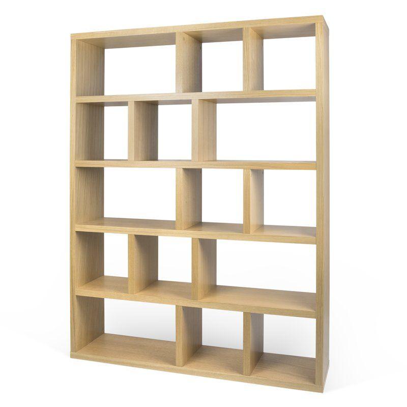 Calliope 5 Level Geometric Bookcase Bookcase Diy Room Divider Bookcase Bookshelves Diy