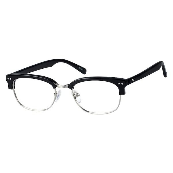 693da38cc9c Zenni Browline Prescription Eyeglasses Black Tortoiseshell Plastic 679421