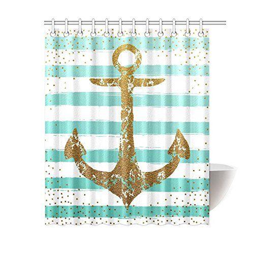Ambesonne Nautical Anchor Rustic Wood Shower Curtain Https Www Amazon Com Dp B00x Nautical Shower Curtains Beach Shower Curtains Beach Bathroom Decor