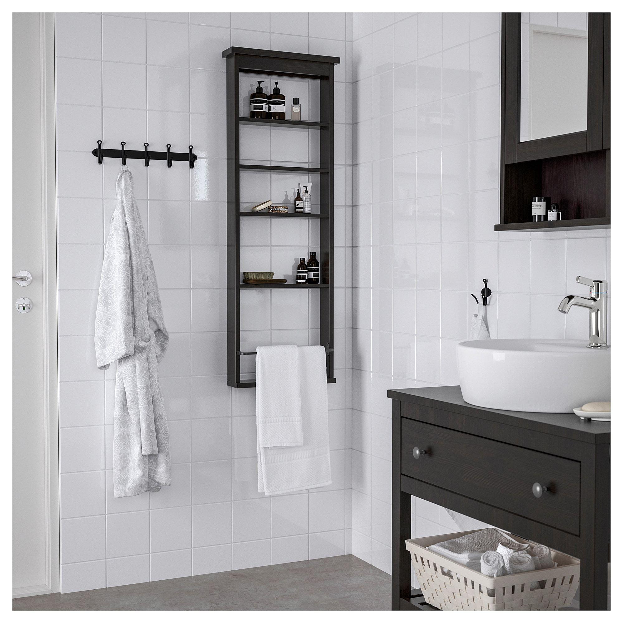 hot sale online ef071 e4043 IKEA HEMNES Black-Brown Wall shelf   Shopping-Furniture in ...