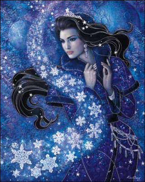Картинки по запросу красивые рисунки фото снегурочки и снежной королевы