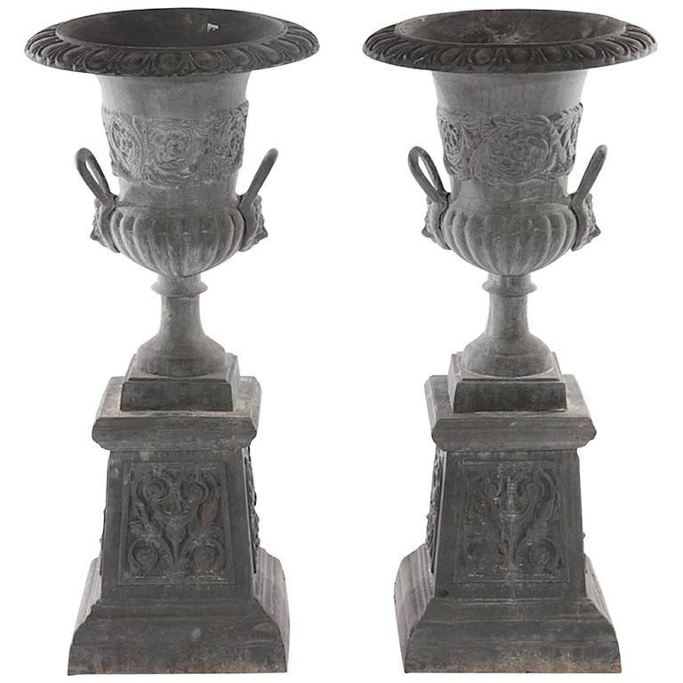 Neoclical Style Cast Iron Garden Urn
