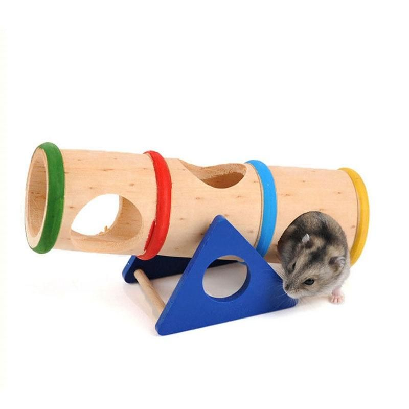 Natural Wooden Mini Playgrounds Seesaws Swings for Hamsters Rats and other Small Furry Animals