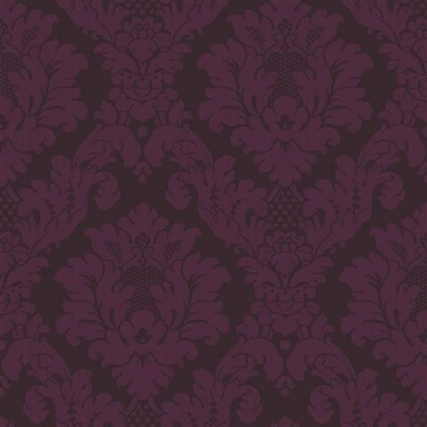 Wallpaper Damask Plum 405108 | Damask | | Coloured Wallpaper from - Wallpaper Damask Plum 405108 Damask Coloured Wallpaper From