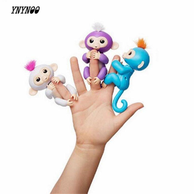 Ynynoo 6 Farbe Fingerlings Interaktive Baby Affen Smart Bunte