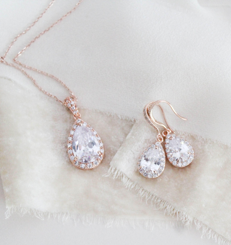 Dainty Rose Gold Bridal Earrings Bridal Jewelry Simple Crystal Drop Earrings Cz Wedding Earrings Teardrop Dangle Earrings Bridesmaid Gift In 2020 Gold Bridal Earrings Bridesmaid Gifts Jewelry Wedding Jewelry Simple
