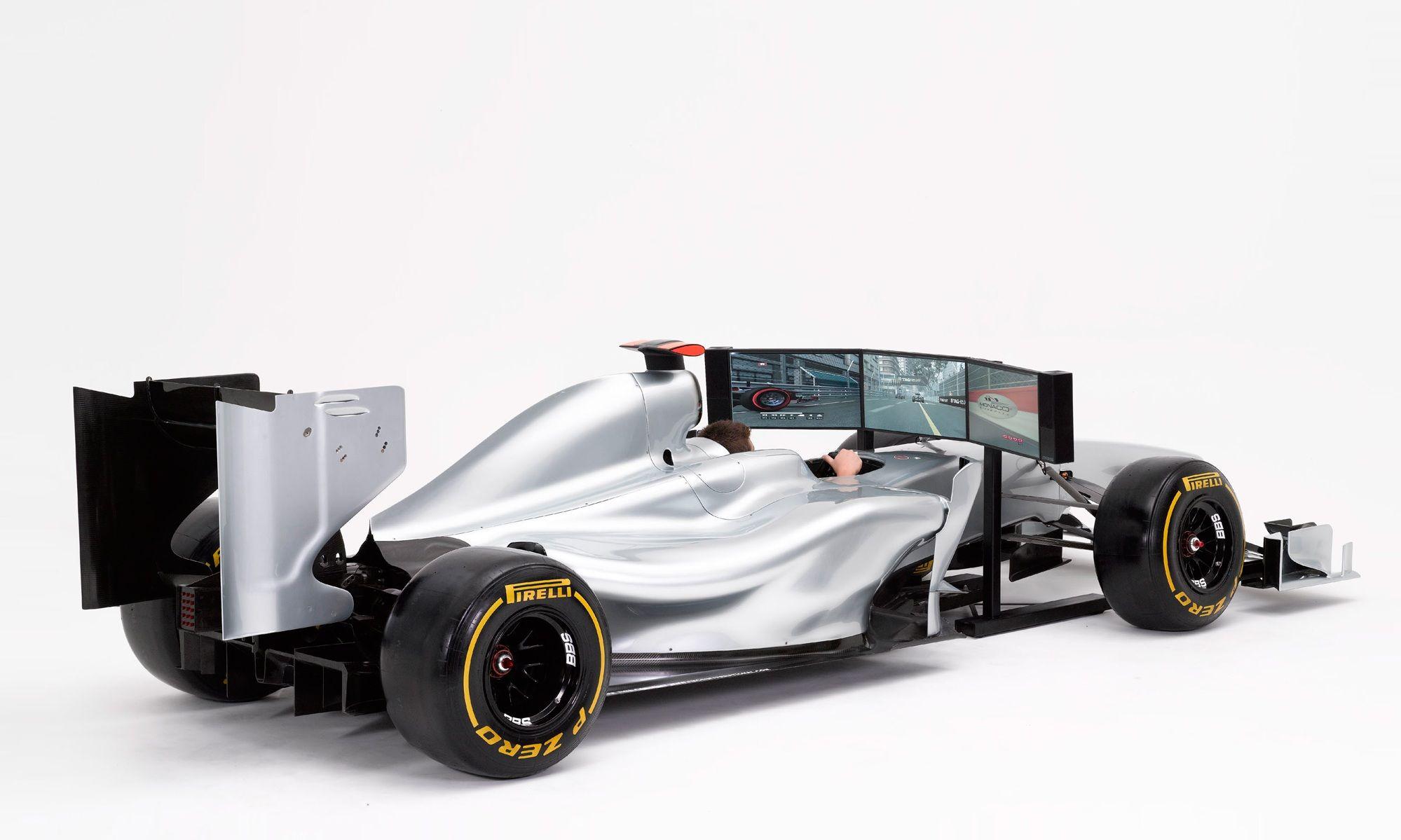 Full Size Formula 1 Racing Simulator for Video Games