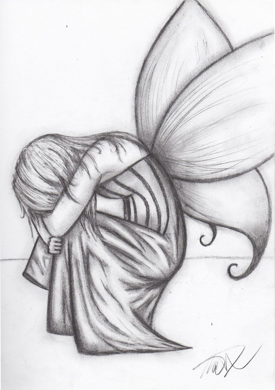 Drawings of people kissing in the rain art drawings fantasy 2011 2015 twilson390 a drawing of a crying fairy