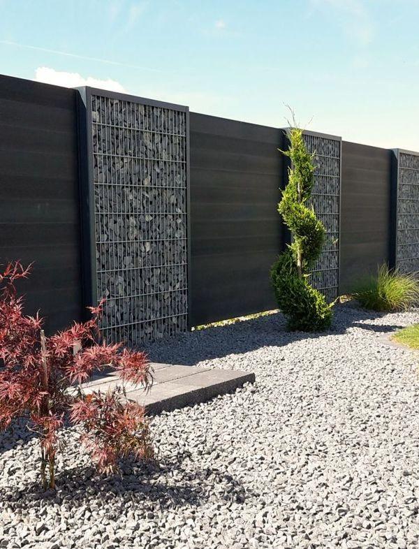 Gabionen Zaunsystem Steelmanufaktur Zaun Garten Sichtschutzzaun Garten Garten Zaun Ideen