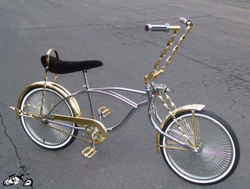 NEW Lowrider Twisted Sissy Bar GOLD Cruiser Bicycle Bikes Low Rider Banana Seats