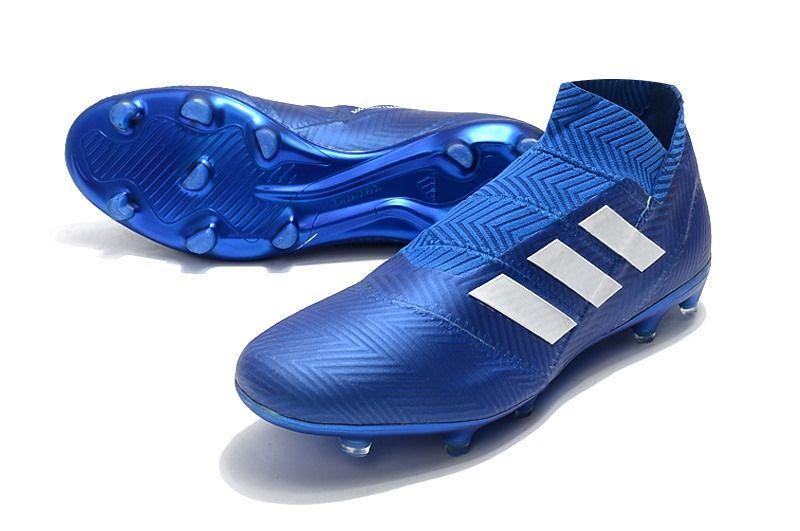 detailed look 5c7ce a43b1 adidas Nemeziz 18+ FG Zapatillas de Fútbol - Azul Argento