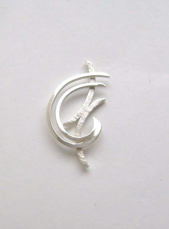 SignetureLine Sterling Silver Contemporary Pendant on Etsy, $65.00