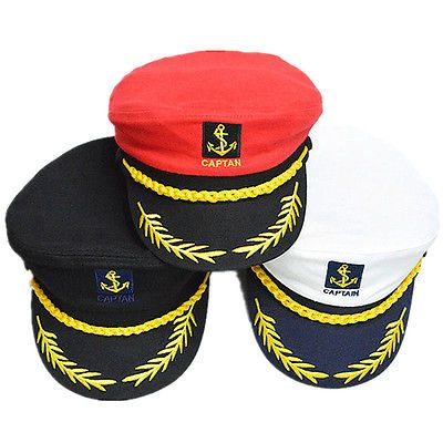 Unisex Women Men Skipper Hat Yacht Sailor Navy Captain Boat Ship Headgear  Cap US b946515e15b2